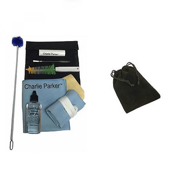Custom Charlie Parker Paramount Series Baritone Saxophone Care & Cleaning Kit w/Black Mouthpiece Pouch #1 image