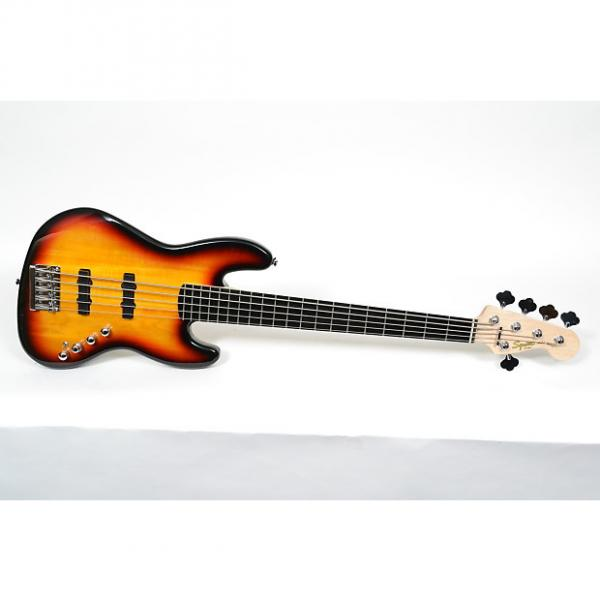 Custom Squier Deluxe Jazz Bass Active V 5-String Electric Bass Guitar #1 image