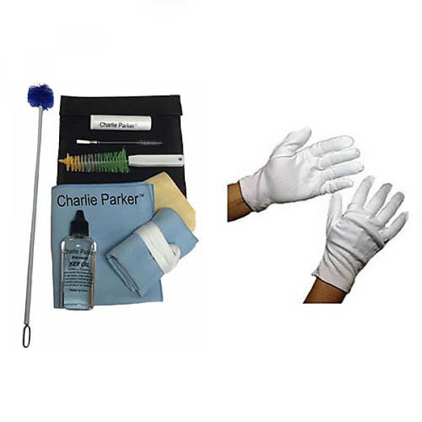 Custom Charlie Parker Paramount Series Soprano Saxophone Care & Cleaning Kit w/Bonus Marching Gloves #1 image