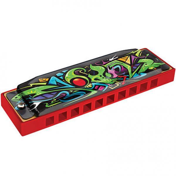 Custom Hohner Tagged Series Red Dragon Tagged Harmonica Key of C #1 image