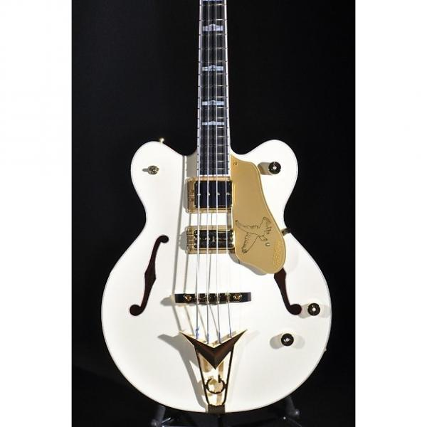 Custom Gretsch G6136B-TP AWT Tom Petersson Aged White Bass Guitar #1 image