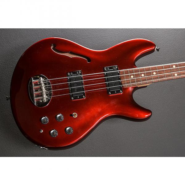 Custom Lakland Skyline Hollowbody Bass 2004 Candy Apple Red #1 image