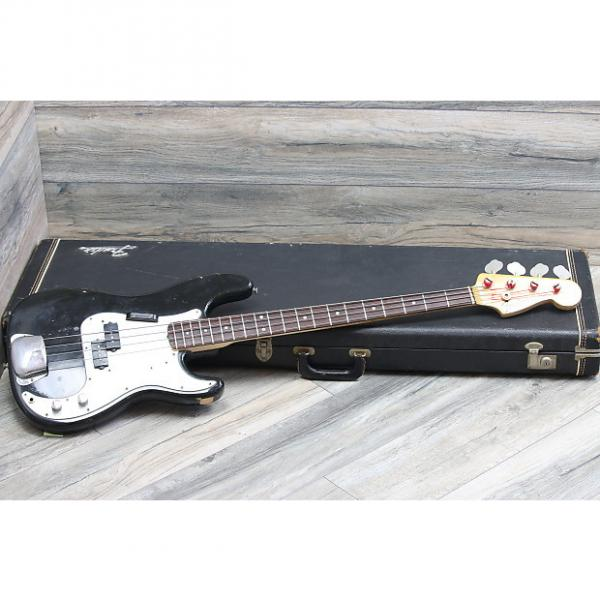 Custom Vintage Beauty! Fender American Standard Precision Bass Rosewood 1971 Cusotm Color Black Original #1 image