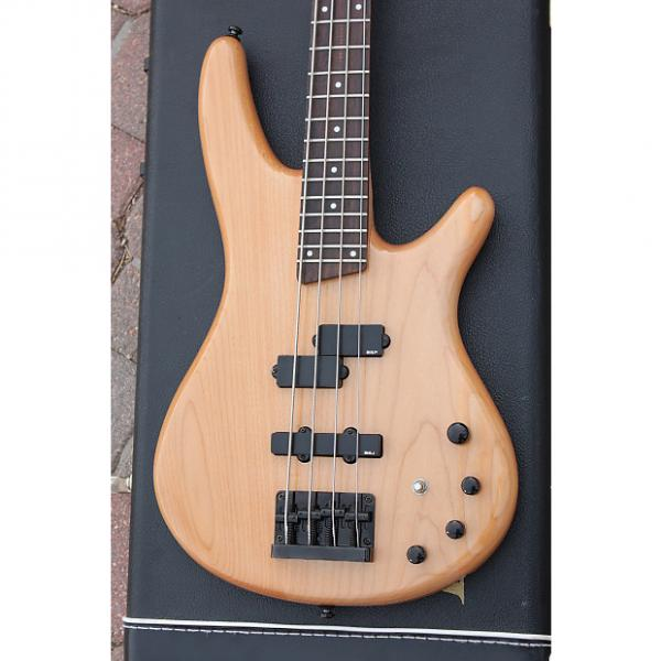 Custom 2001 Ibanez Soundgear SR 400 4 String Natural Finish Active EQ Made In Korea Electric Bass + OHSC #1 image