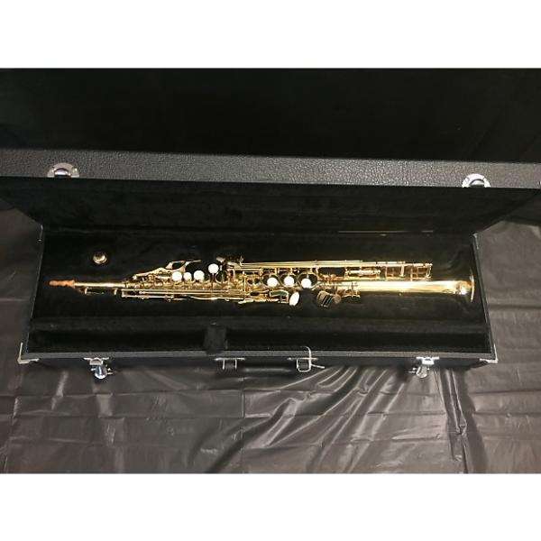 Custom Buescher BU-3 Soprano Sax Gold Brass Lacquer #1 image