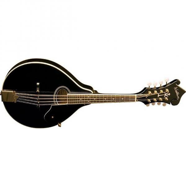 Custom Washburn M1SDLB Solid Top A Style Mandolin F-Headstock Black #1 image
