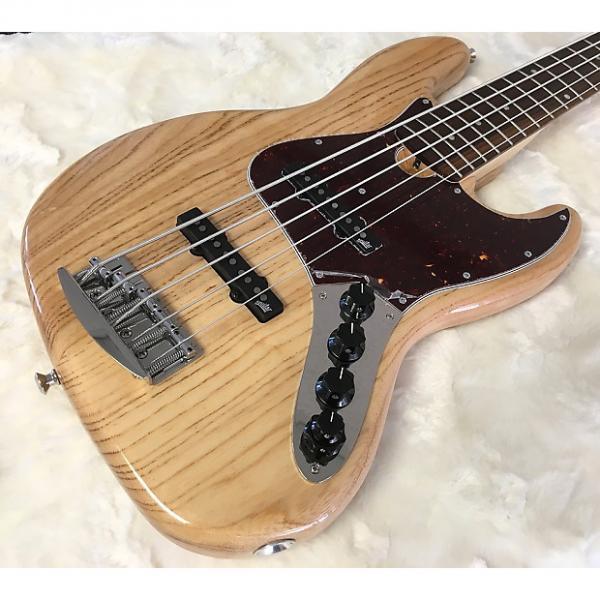 Custom Roscoe Classic 5JJ Bass - Ash,  Pau Ferro, Natural. #1 image