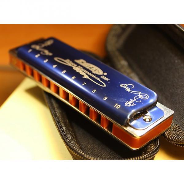 Custom Professional custom Easttop/ Ermonica harmonica T008K Blue. Key Eb #1 image