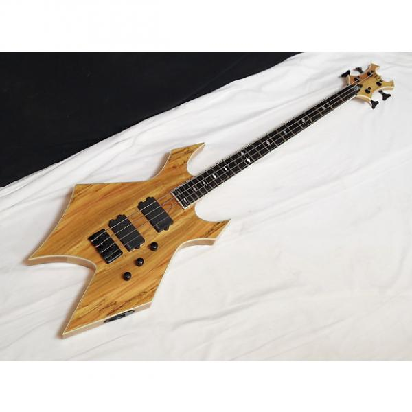 Custom BC RICH Paolo SIGNATURE Neck-Thru Warlock 4-string BASS guitar Spalted Maple NEW #1 image