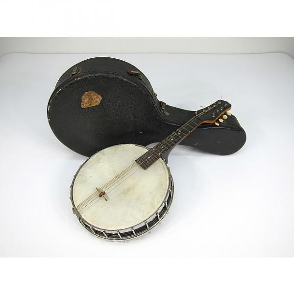 Custom 1922-1924 Gibson MB Pre War Mandolin Banjo Banjo-lin Nice Orignal Hard Shell Case Rock On Mando Man #1 image