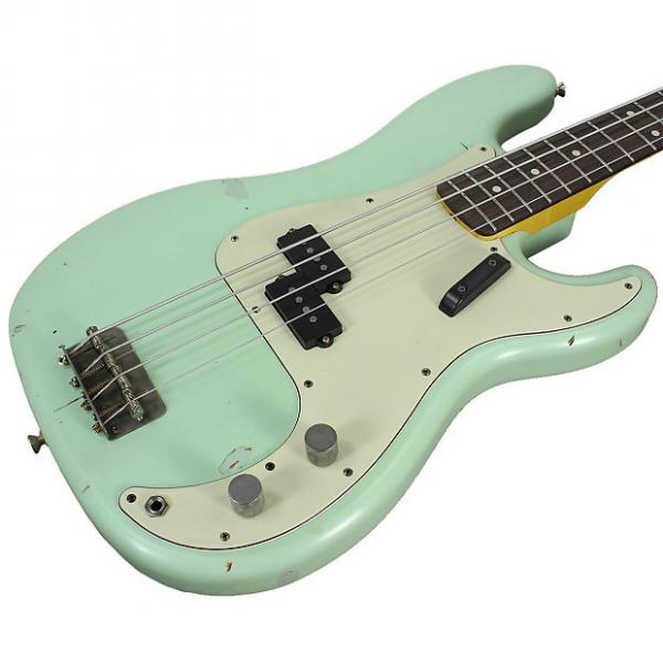 Custom Nash PB-63 Bass Guitar, Surf Green #1 image