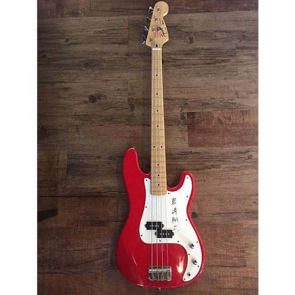 Custom Squier Precision Bass 4 String (Korean) Red #1 image