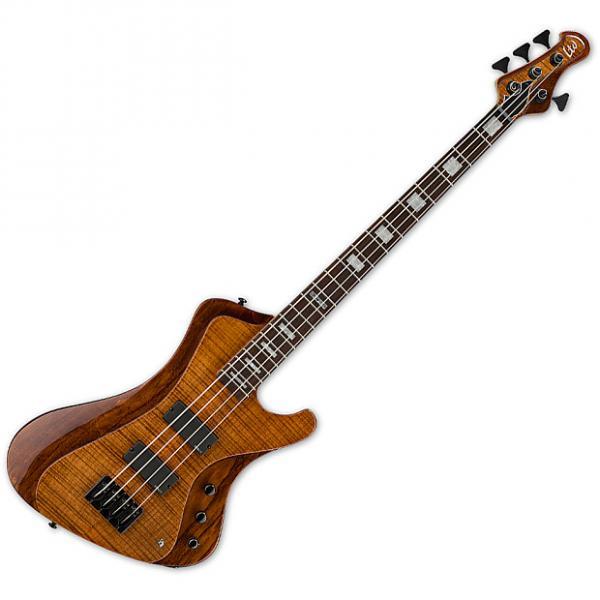 Custom ESP LTD Stream-1004 Flamed Maple Electric Bass Walnut Brown #1 image