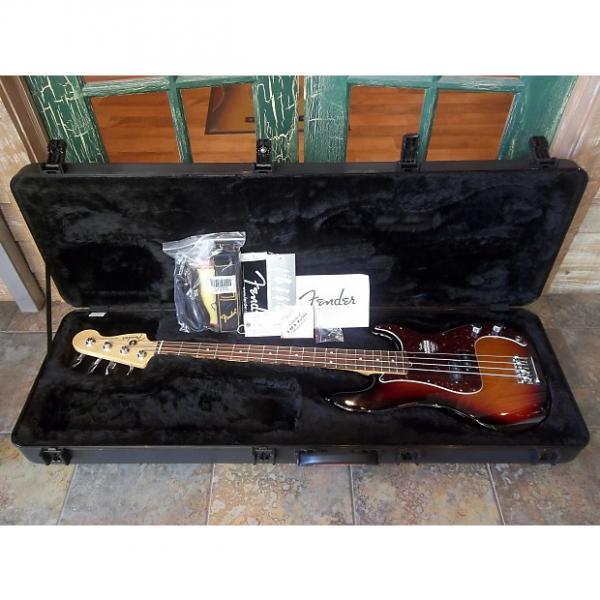 Custom Fender American Standard Precision Bass 3 Tone Sunbrst w/ OHSC Custom Shop PUP! #1 image