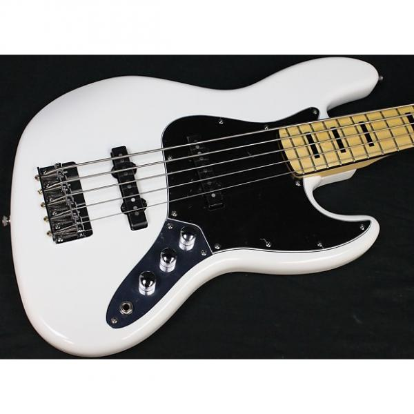 Custom Squier Vintage Modified Jazz Bass V 5-String, Olympic White, Maple FB, NEW! #486 #1 image