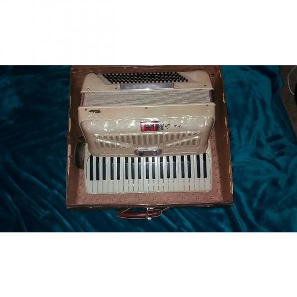 Custom Video Accordion  Unknown  60's? Pearl White #1 image