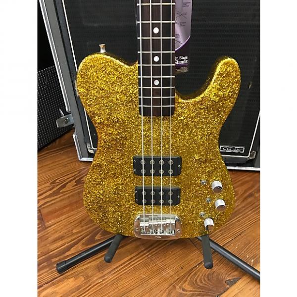 Custom G&L  ASAT Bass w/ Swamp Ash Body,  Maple Neck Gold Sparkle #1 image