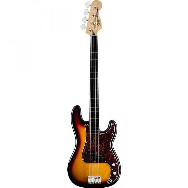 Custom Squier Vintage Modified Fretless P Bass Guitar 3 Tone Sunburst Ex Display 3 Tone Sunburst #1 image