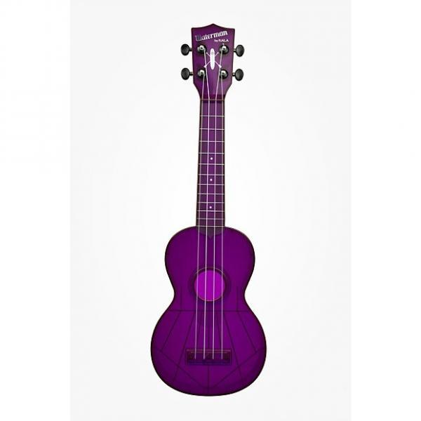 Custom Kala-Waterman Ukulele (KA-SWF-PL), Fluorescent Purple Grape #1 image