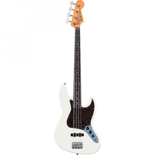 Custom Fender 60s Jazz Bass Olympic White Electric Bass Guitar Ex Display Olympic White #1 image