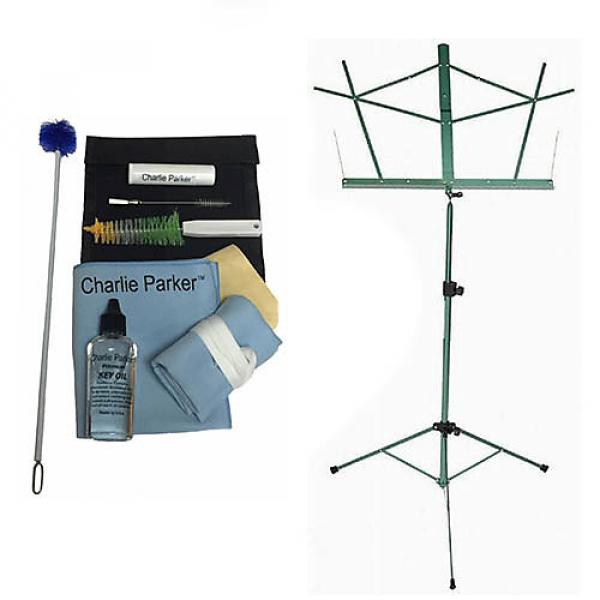 Custom Charlie Parker Paramount Series Tenor Saxophone Care & Cleaning Kit w/Green Music Stand #1 image