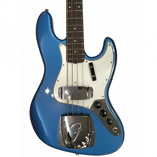 Custom Fender American Vintage 64 Jazz Electric Bass Lake Placid Blue Ex Display Lake Placid Blue #1 image