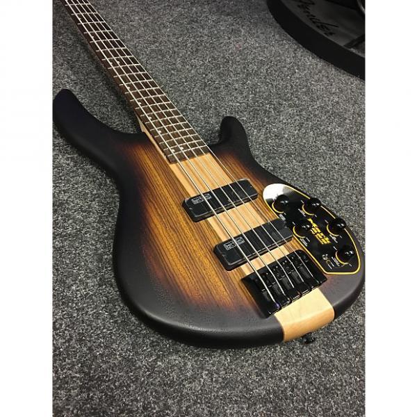 Custom Cort C5 Plus Bass Open Pore Tobacco Burst #1 image