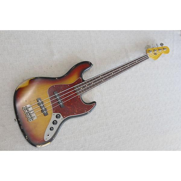 Custom Nash JB63 J-Bass medium distressed 3tone sunburst #1 image