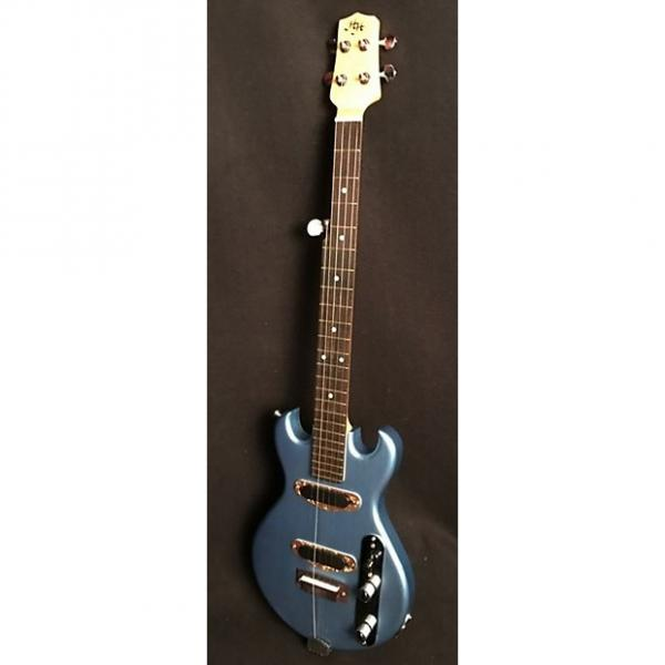 Custom HH Mini-Electric-Banjo, Double-Cutaway, 2017, Pelham Blue, Made in U.S.A., Nice Gig Bag Included! #1 image