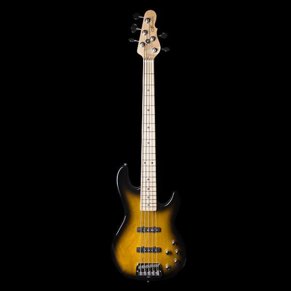 Custom G&L MJ5 5-String 2-Tone Sunburst Empress Bass Guitar w/ Case #1 image