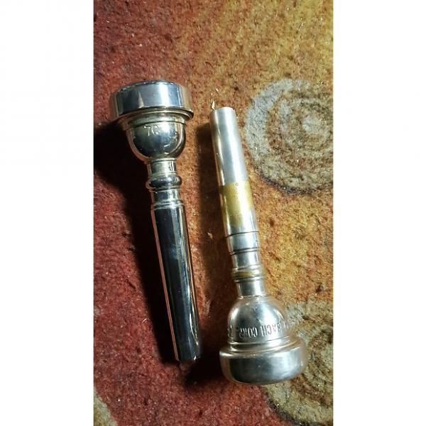 Custom Vintage Bach 7C Trumpet Mouthpiece w/7C Unbranded Mouthpiece, 2 Piece Lot! #1 image