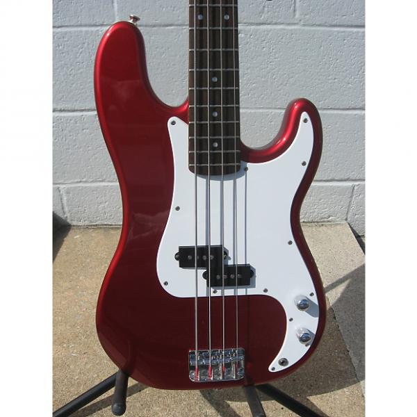 Custom Squier Affinity P-Bass Nice!!! With Gig Bag Red #1 image