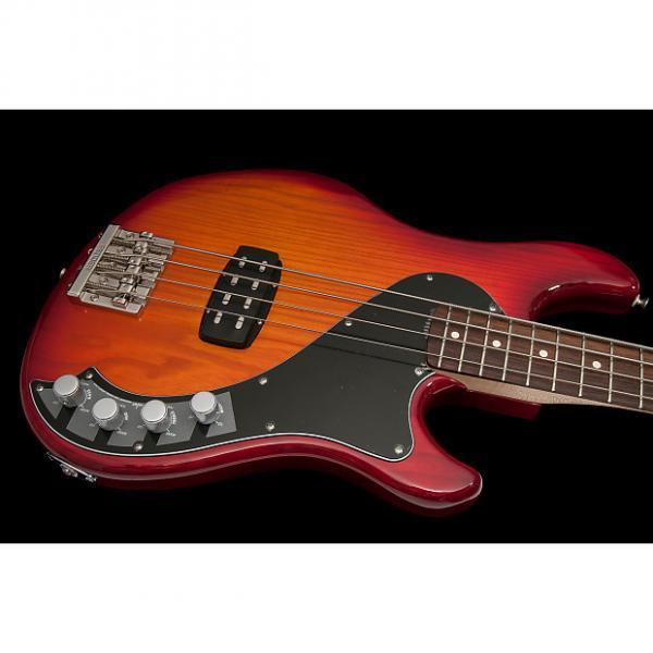 Custom Fender Deluxe Dimension IV Bass 2014 Aged Cherry Burst with gig bag #1 image