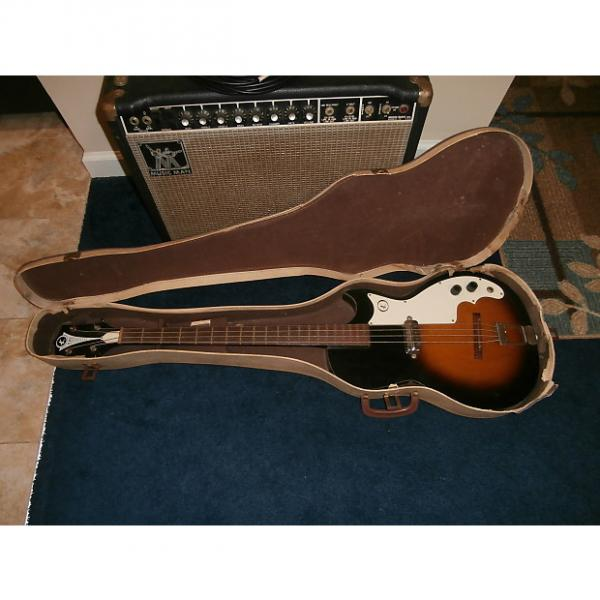 Custom Vintage 1960's Kay 5915 Electric Bass Guitar w/ Original Case! USA-Made! #1 image