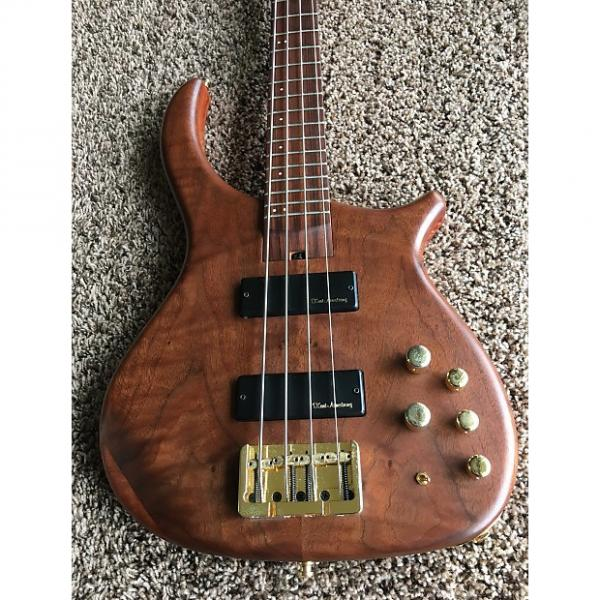 Custom US Masters 4 String Bass Guitar Natural Flamed Maple Neck Pau Ferro Board & Other Exotic Woods OHSC #1 image