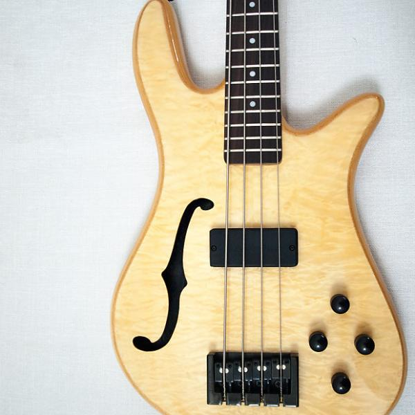 Custom Spector Spectorcore 4 Fretless Semi Hollow Aged Natural Gloss #1 image
