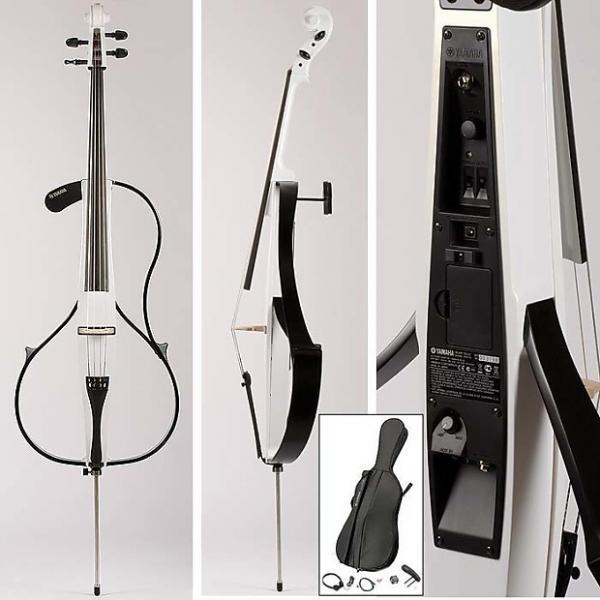 Custom Yamaha SVC-110SK Studio Acoustic-body Electric Cello- Pearl White #1 image