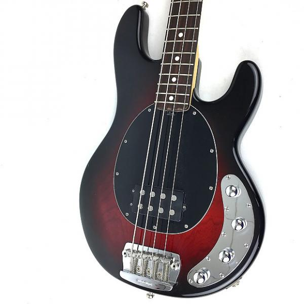 Custom Ernie Ball Music Man StingRay 4 H Black Cherry Burst w/ Matching Headstock #1 image