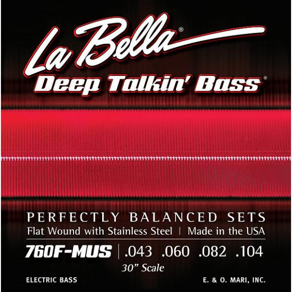 Custom LaBella 760FS-MUS Stainless Steel Flat Wound Bass Strings, Custom #1 image