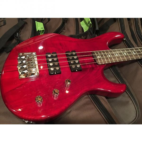 Custom PRS Paul Reed Smith SE Kingfisher Bass 2016 Red #1 image