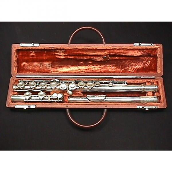 Custom Vintage Alexandre Paris Silver Platted Flute in it's Original Case & Ready to Play #1 image