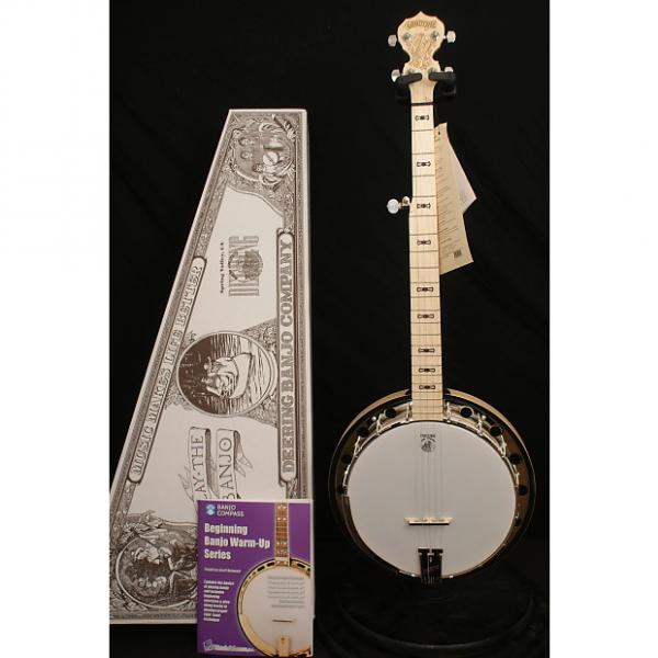 Custom Brand NEW Deering Goodtime Special 5 string resonator banjo with Geoff Hohwald instructional books #1 image
