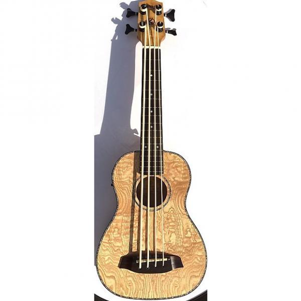Custom Grape UBS-01 Electric Acoustic Fretless Ukulele Bass w/ bag- Willow #1 image