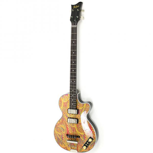 Custom Hofner Gold Label 500/2 Limited Edition Club Bass Paisley #1 image