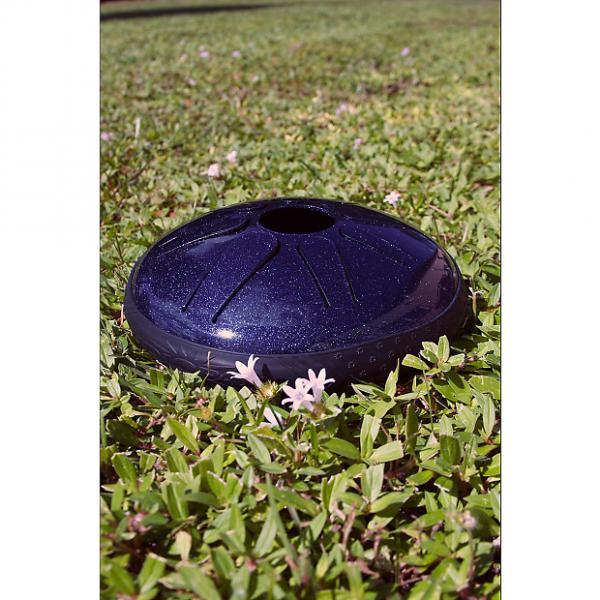 "Custom Idiopan 8"" Lunabell Tongue Drum Steel Tunable Mallets Sapphire Blue DPD08 SBA #1 image"