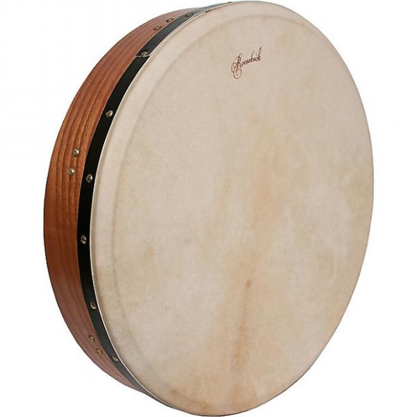 "Custom Roosebeck 18 x 3.5"" Bodhrán Tunable Red Cedar Cross Bar Double Natural Head #1 image"