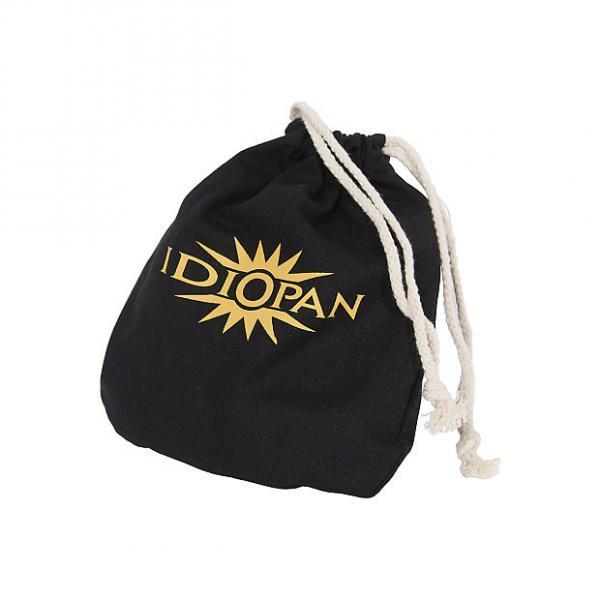 "Custom Idiopan Drawstring Bag 6"" Canvas Cotton Black Logo #1 image"