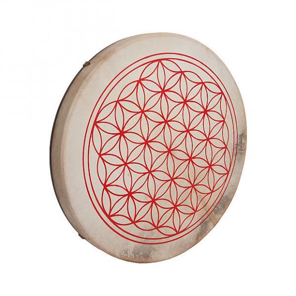 """Custom DOBANI 18"""" Frame Drum Goatskin Head Circle of Life GFX BLEMISHED #1 image"""