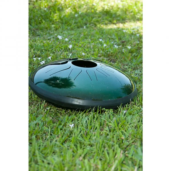 "Custom Idiopan 14"" Dominus Electric Steel Tongue Drum Tunable Cosmic Green #1 image"