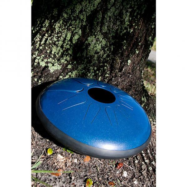 "Custom Idiopan 14"" Dominus Steel Tongue Drum Oceanic Blue DPD14 OBA BLEMISHED 1S #1 image"